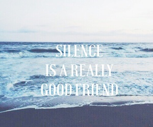 background, sea, and quote image
