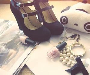 shoes, panda, and heels image