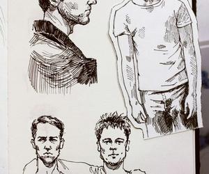 brad pitt, draw, and drawing image