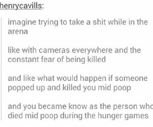 funny, tumblr, and the hunger games image