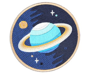 patch, saturn, and space image