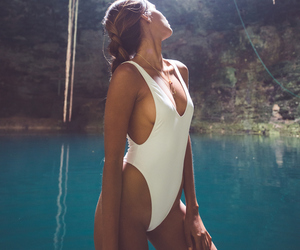 summer, goals, and swimsuit image