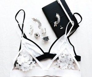 fashion, white, and bra image