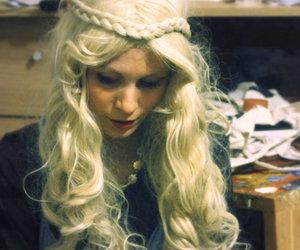 art, blonde, and braid image