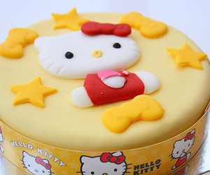 hello kitty, cake, and cute image