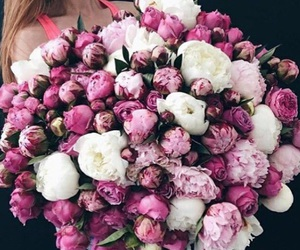 bouquet, lilac, and pink image