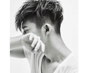 black and white, Ikon, and kpop image