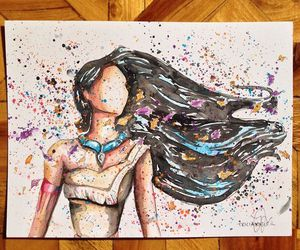 pocahontas, art, and drawing image