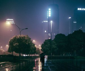 city, night, and light image
