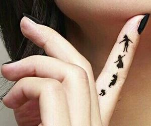 tattoo, peter pan, and black image