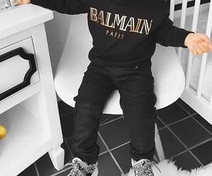 Balmain, baby, and black image
