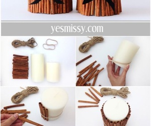 diy, candle, and Cinnamon image