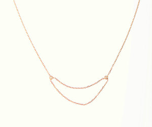 chain necklace, dainty necklace, and gifts for her image