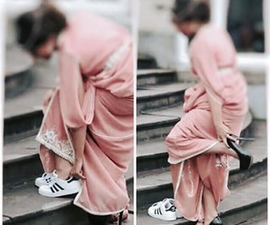 caftan, adidas, and sneakers image