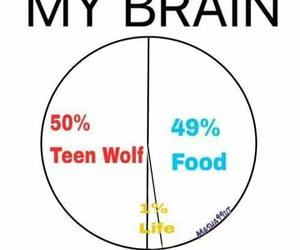 teen wolf, food, and life image
