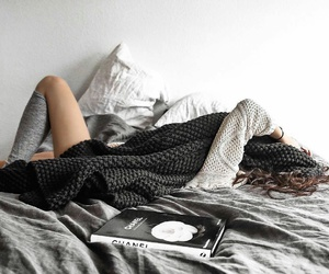 bed, chanel, and cozy image