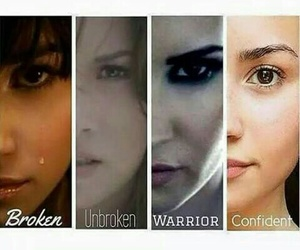 demi lovato, broken, and confident image