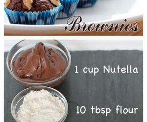 brownies, diy, and food image