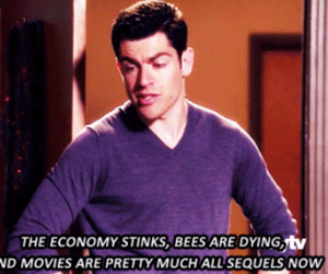 quote, schmidt, and new girl image