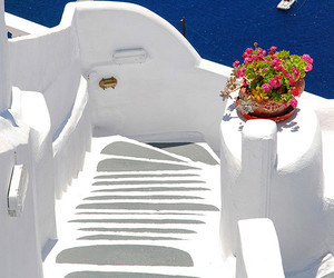 architecture, boat, and Greece image