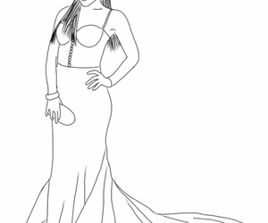 2016, outline, and dress image