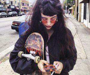 girl, grunge, and skate image