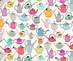 pattern and watering can image