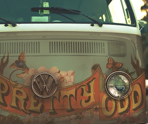 hippie and car image