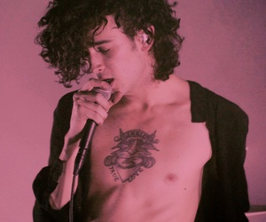 the 1975, pink, and matty healy image