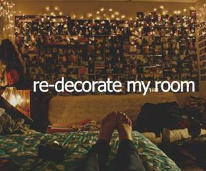 bedroom, text, and decorate image