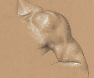 arm, pencil, and art image