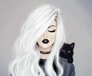 cat, black, and art image