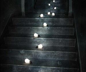 light, stairs, and dark image