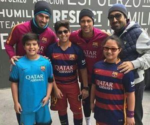 football, fc barcelona, and suarez image