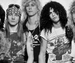 Guns N Roses, axl rose, and slash image
