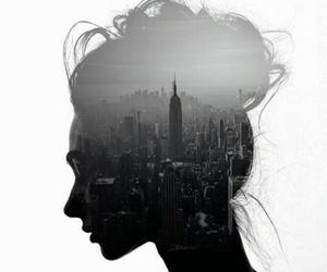 art, black, and city image