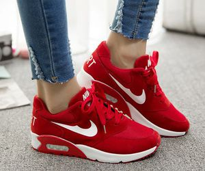nike, red, and shoes image