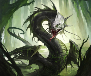 fantasy, mythical creature, and swamp image