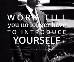 quote, suit, and work image