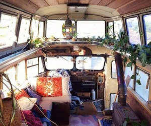 bus, travel, and hippie image