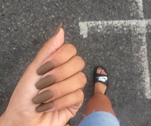 nails, shoes, and summer image