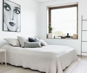 white, bedroom, and art image
