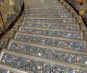 stairs, luxury, and diamond image