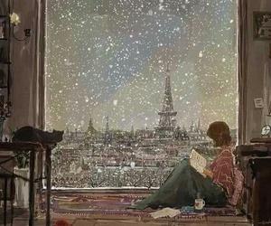 paris, snow, and book image