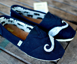 toms, shoes, and mustache image