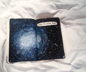blue, galaxy, and painting image