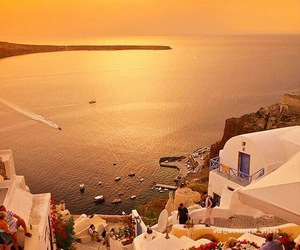 Greece, santorini, and sea image
