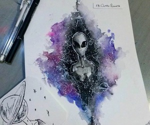 alien, alternative, and draw image
