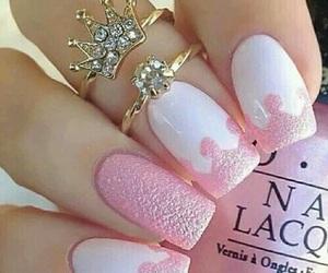 nails, pink, and princess image