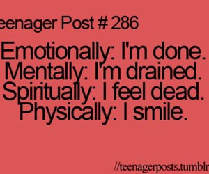 teenager post, smile, and quote image